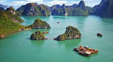 SUEÑOS DE ASIA - ESPECIAL NOVIOS      -                     Bahía de Ha-Long, Bangkok, Hanói                     Siem Reap, Angkor, Phuket