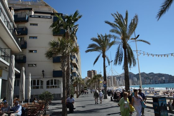 Outside Hotel Bilbaino Benidorm