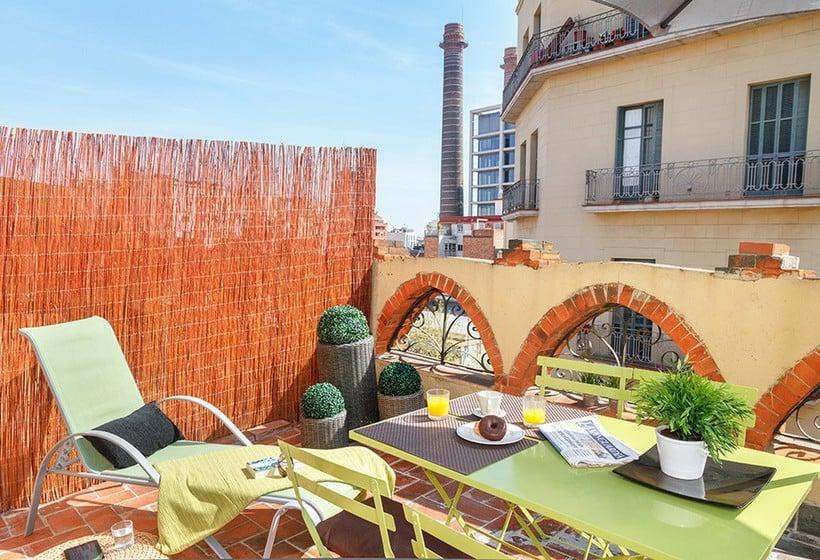 Terraza Feelathome Vila Apartment Barcelona