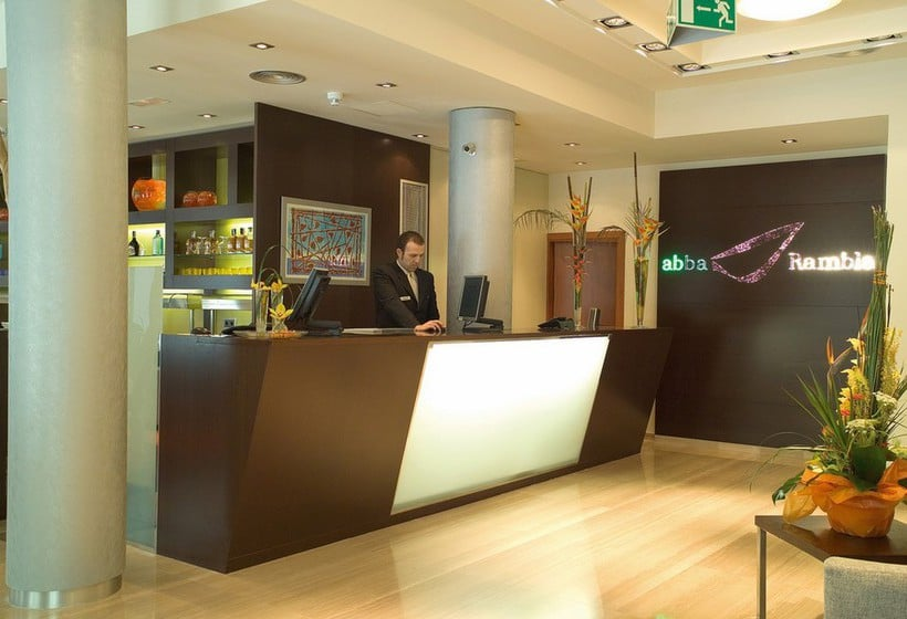 Recepción Hotel Abba Rambla Barcelona