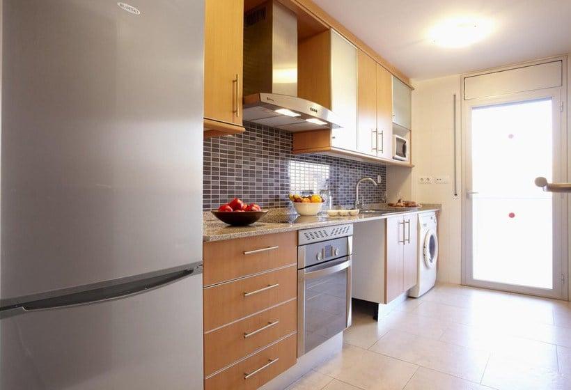 Cocina Apartamentos Ibersol Spa Aqquaria Salou
